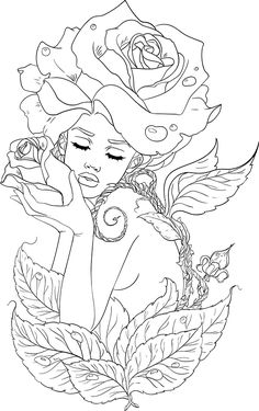 lineartsy adult coloring page spring is part of Fairy coloring pages - Fairy Coloring Pages, Printable Adult Coloring Pages, Coloring Pages To Print, Free Coloring Pages, Coloring Books, Spring Coloring Pages, Kids Coloring, Coloring Sheets, Drawings