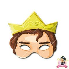 Childrens Printable Prince Mask | Simply Party Supplies Printable Masks, Printables, Half Mask, Mask For Kids, Printer Paper, Print And Cut, Princess Party, Photo Booth, Party Supplies