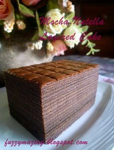 Time really flies, especially during Ramadhan, when we have a long list of things to do. I've baked several layered cakes & c. Indonesian Desserts, Asian Desserts, Nutella Recipes, Chocolate Recipes, Layer Cake Recipes, Dessert Recipes, Layer Cakes, Baking Recipes, Molten Cake