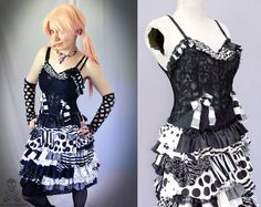 black white Psycho Sideshow ragdoll gothic zombie by smarmyclothes, $186.00