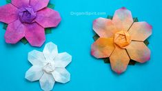 Origami tutorial and video instruction on how to make a six-petals origami flower. Also an origami snowflake. SUBTÍTULOS EN ESPAÑOL. Made with permission fro...