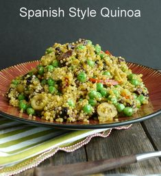 Spanish Style Quinoa, the perfect side dish from NoblePig.com