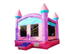 pink sparkling princess bounce house for girls Princess Theme, Pink Princess, Princess Bounce House, Bounce Houses, Inflatable Bounce House, Bouncy Castle, Tarpaulin, Pink Color, Color Patterns