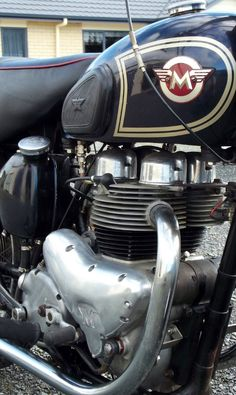 1955 Matchless G9 Super Clubman my dad had one like this. All I remember is it was a Matchless and it was from the 1950's