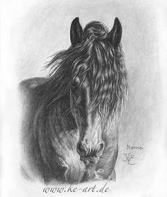 Horsedrawing by Katja Eichhorn