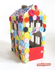 button fairy house - love this!