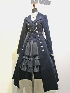 look at that coat! it's amazing! i would go out in that vest and coat, maybe with the skirt too.