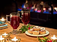 Mulled wine and mince pies at The Angel Hotel, Abergavenny