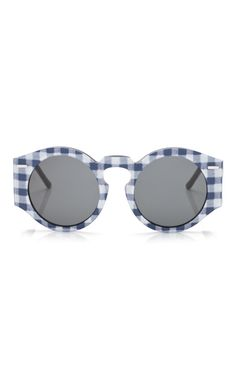 Aviator Sunglasses in Navy Gingham by Opening Ceremony for Preorder on Moda Operandi