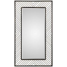 Rectangular Iron Chevron Pattern Mirror
