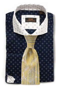 Steven Land Men/'s 100/% Cotton Spread Collar Plaid Shirt DA1630 Multi