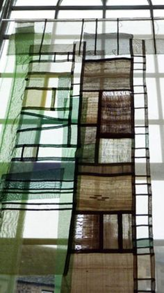 Bojagi with Molly Bullick | surfacedesign.org the art of wrapping precious items using fragments of fabrics, the seams reminded me of the leaded stained-glass in the war memorial at Edinburgh Castle.