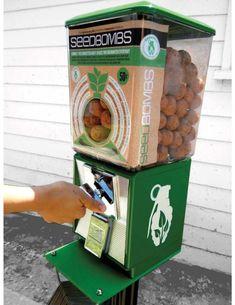 Guerilla gardening seed bomb dispenser- Excellent idea!!