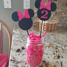 25 Black Minnie Mouse Head Shapes White Circle Shapes Red Bows Die Cuts for DIY Birthday Party Invitations Diy Decorations Decor Minnie Mouse Table, Minnie Mouse Rosa, Minnie Mouse Birthday Decorations, Minnie Birthday, Minnie Mouse Party, Diy Birthday, Second Birthday Ideas, 2nd Birthday Parties, Twins 1st Birthdays