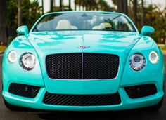 Own my dream car, a Tiffany blue Bentley Coupe.
