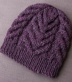 a free cable hat pattern!