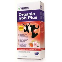 Blooms Health Products Organic Iron Plus 500 Ml At Megavitamins Supplement Australia