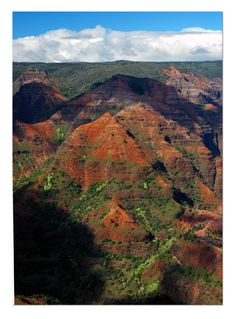 Waimea Canyon, Kauai, HI  -- the grand canyon of the Pacific!  It was amazing.  I was there for my Honeymoon in June '11