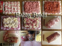 South African Recipes BACON BOMB:  (Karena Profe Bosdorf) Braai Recipes, Pork Recipes, Backpacking Food, Camping, Bacon Bombs, South African Recipes, White Meat, Savoury Dishes, Lunch Time
