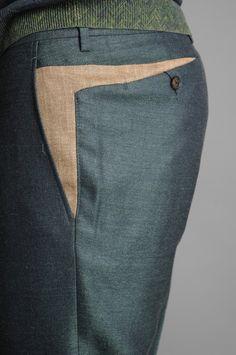 KENZO Green Formal Pants