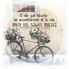 Proverbios 15:31 El oído que escucha las amonestaciones de la vida, entre los sabios morará.♔