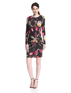 Ted Baker Womens Talala Floral Print Long Sleeve Dress Black 0 * Check this awesome product by going to the link at the image.(This is an Amazon affiliate link and I receive a commission for the sales)