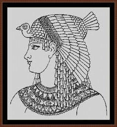 Egyptian Woman Counted Cross Stitch Pattern von InstantCrossStitch
