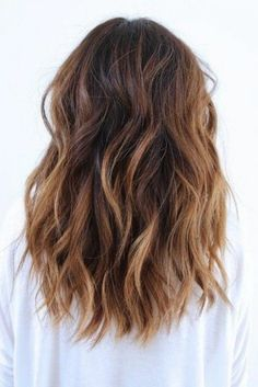curled hair with blonde balayage, and medium brown hair color, worn by woman in white sweater Brown Hair Balayage, Brown Blonde Hair, Brunette Hair, Hair Highlights, Blonde Balayage, Medium Hair Styles, Curly Hair Styles, Beautiful Hair Color, New Hair