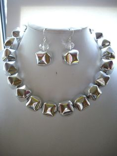 CLEARANCE Large Silver Bauble Necklace with by DesignsbyPattiLynn, $30.00