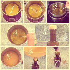 Fabriquons… le liniment (oléo-calcaire) ! Matériel : - 100 ml d'eau de chaux (disponible en pharmacie, sur aromazone…) - 100 ml d'huile d'olive bio - 4 grammes de cire d'abeille blanche (bio) soit environ une vingtaine de paillettes - 1 conservateur :...