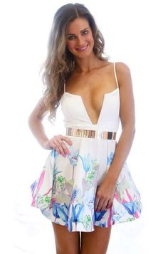 New Women Spaghetti Strap Sexy Ball Gown Dress [NASY0025] - $16.33 | Letsmi.com