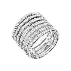 Canyon Women  925 Sterling Silver  silver     Zirconium oxide FINERING | The Sterling Silver Com