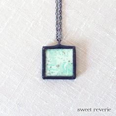 Beautiful! Retro Kitsch Minimal Print Mint Aqua Blue by asweetreverie on Etsy