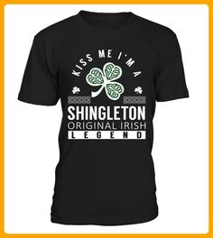 Kiss Me I am a SHINGLETON Original Irish Legend - Shirts für singles (*Partner-Link)