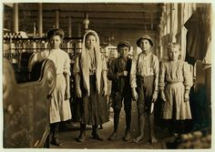 Spinners and doffers in Lancaster Cotton Mills.Dozens of them in this mill. Lancaster, S.C, Lewis Wickes Hine, photographer. From the series: National Child Labor Committee Photographs taken by Lewis Hine Lancaster, Lewis Wickes Hine, Belle Epoque, Fotografia Social, Cotton Mill, King Cotton, New Fine Arts, Documentary Photographers, Famous Photographers
