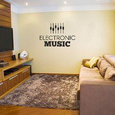 Adesivo Decorativo Eletronic Music, é um adesivo decorativo de parede Adesivo decorativo para você ter em uma parede, pode ser ela do quarto, da sala, co...