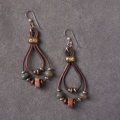 Autumn Earrings, created for a step by step Facebook tutorial.