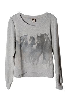 Haute Hippie Wild Horses Sweatshirt