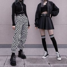 Adrette Outfits, Neue Outfits, Teen Fashion Outfits, Cute Casual Outfits, Korean Outfits, Grunge Outfits, Retro Outfits, Flannel Outfits, Gothic Outfits