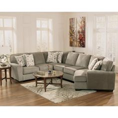 Ashley Furniture Patola Park - Patina 4-Piece Small Sectional with Right Cuddler