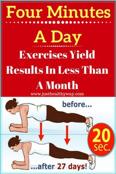 It may seem odd and many people have trouble believing it is true, but you are actually capable of changing your body in just four minutes. Just by doing one...