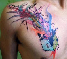 Cool Watercolor Tatt