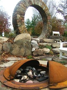 Fire pit and Stargate? This would be so cool in a backyard ;)