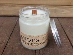 Love LOVE? Try out our Wedding Cake Wood Wick Candle Vegan Soy wax by Whiskey Wicks. Inspired by: Seattle, Washington. Smells like: Wedding cake with decadent vanilla buttercream frosting.