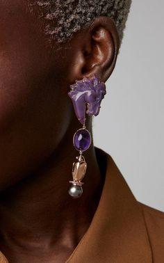 Earrings Statement Freya Stark Earrings by Daniela Villegas - Trendy Jewelry, Jewelry Art, Unique Jewelry, Handmade Jewelry, Jewelry Design, Fashion Jewelry, Jewellery, Statement Earrings, Dangle Earrings