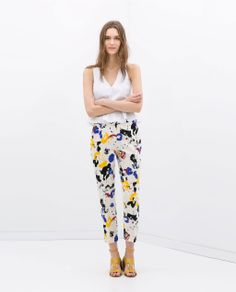 Trousers with paint print by ZARA. Mine - and look much better on 1.60m ;)