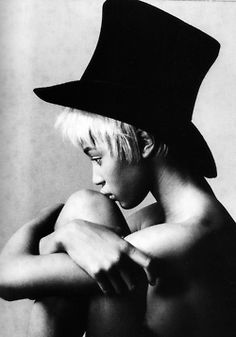 Naomi Campbell Adore black white photography Love hat this one look great