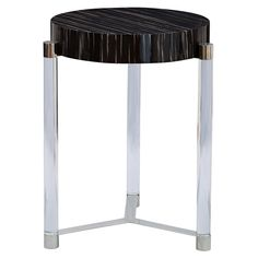 "Maxwell Black Accent Table | 19"" diameter x 24h 