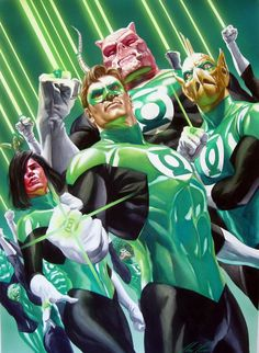 I will be emeraldly kicked in the ass if I dont include the Green Lantern Corps. as a Comic Crew.