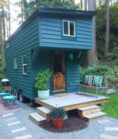 This 144 sq.ft. tiny house features curated items made from artists and craftsman. Available for nightly rental through Airbnb.